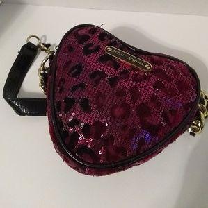 BETSEY JOHNSON Heart Shaped CROSSBODY Bag